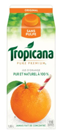 jus de fruits tropicana