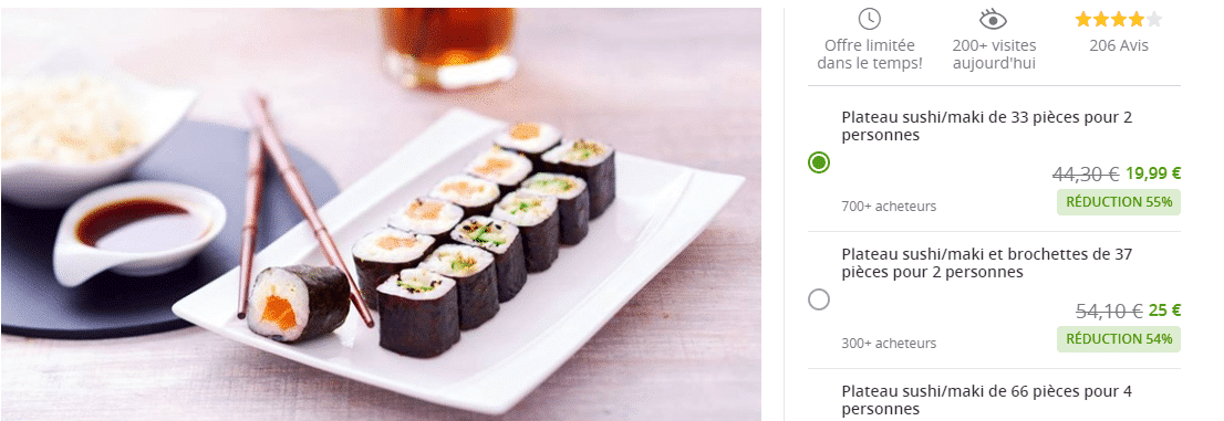 Groupon.fr offre snacking